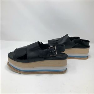 Jeffrey Campbell Funky Wood/Foam Platform Sandal